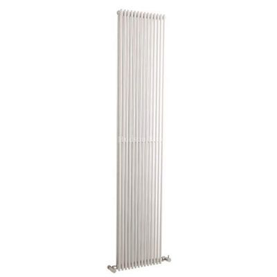Hudson Reed Refresh Double Panel Vertical Designer Radiator White 1500mm High x 350mm Wide