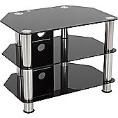 AVF Universal Black Glass and Chrome Legs TV Stand For up to 40 inch TVs