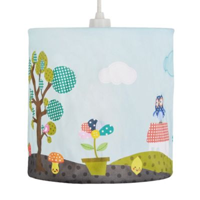 Children's Patchwork Countryside Fabric Ceiling Light Shade