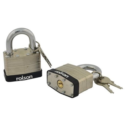 Rolson 2pc 40mm Keyed Alike Padlock