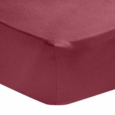 Homescapes Plum Egyptian Cotton Deep Fitted Sheet 200 TC, Single