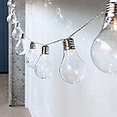 10 Warm White LED Edison Bulb Battery Fairy Lights