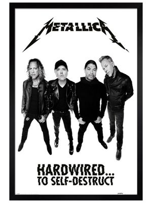 Metallica Black Wooden Framed Hardwired Band Poster 61x91.5cm