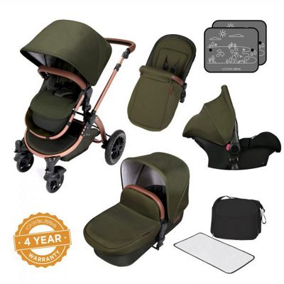Ickle Bubba Stomp V4 Special Edition Travel System plus Stroller Bag - Woodland Bronze