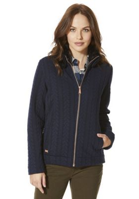Regatta Tryna Quilted Jersey Sweatshirt 12 Navy
