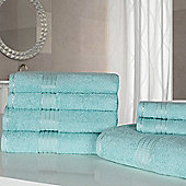 Highams Luxury Egyptian Cotton Towel Bale 7 Piece - Aqua