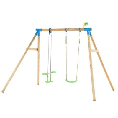 TP Nagano Wooden Double Swing Set
