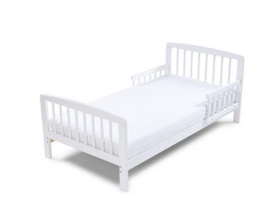 Poppys Playground Eve - White Junior Toddler Bed & Deluxe Sprung Mattress