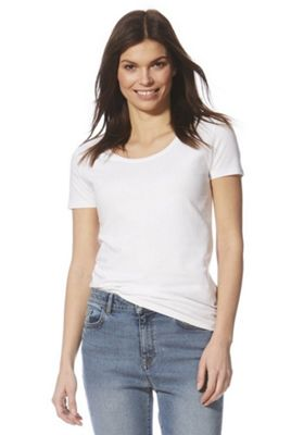 F&F Short Sleeve Top with As New Technology White 22