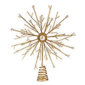 Gold Pearl Star Christmas Tree Topper