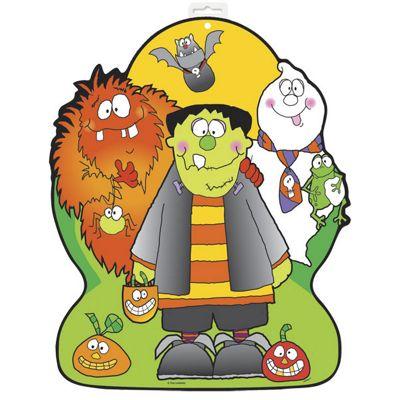 Little Monsters Party Card Cutout 42cm (each)