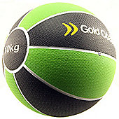 Gold Coast 10kg Heavy Duty Rubber Medicine Ball - For Weights Training Exercise Fitness MMA Boxing