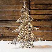 Regular Grey Wicker Light Up LED Christmas Tree