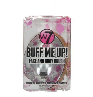 W7 Buff Me Up Face & Body Make Up Brush Foundation Moisturiser Body Shimmer