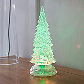 Colour Changing LED Swirling Glitter Water Battery Christmas Tree
