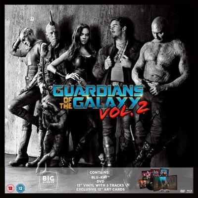 Guardians of The Galaxy Vol. 2 Big Sleeve (DVD, Blu-Ray & Vinyl LP)