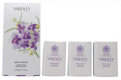 Yardley April Violets Soap 3x 100g