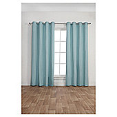 Canvas Lined Eyelet Curtains,  (66 x 54'') - Duck egg