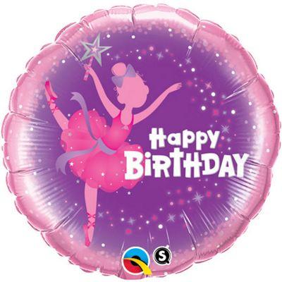 Birthday Ballerina Balloon - 18 inch Foil