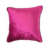 McAlister Velvet Cushion - Fuchsia Pink, Silky Touch