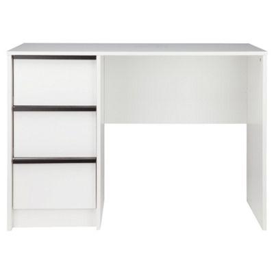 Trenton Computer Desk, White/Black
