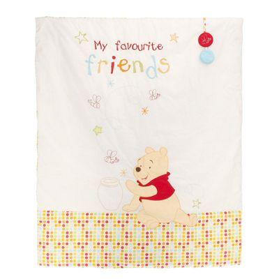 Obaby Disney Winnie the Pooh Quilt and Bumper in White (2 Piece Set)