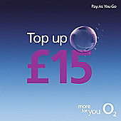 O2 £15 mobile Top Up