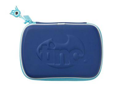 Tinc Contrasting Zip Hardtop Pencil Case - Navy/Blue