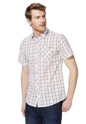 Regatta Deakin II Check Short Sleeve Shirt White S