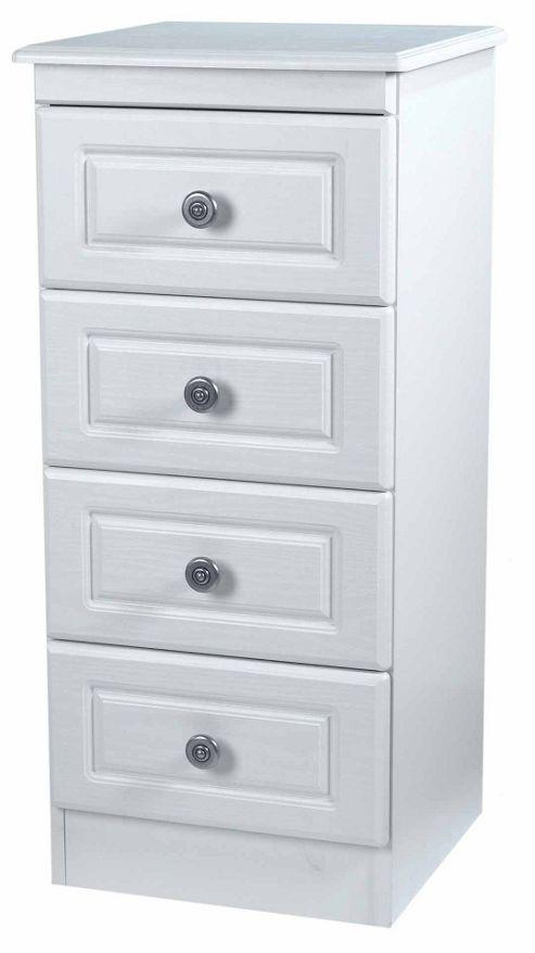 Welcome Furniture Pembroke 4 Drawer Chest with Locker - Light Oak
