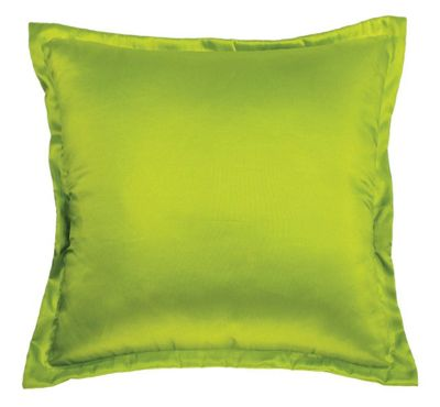 Green Taffeta Plain Cushion Modern Retro Funky Style