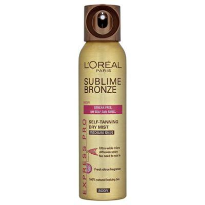L'Oréal Sublime Self-Tan Body Mist Medium 150ml