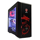 Cube Dragon Master Overclocked Watercooled Gaming PC Core i5k Quad Core MSI Geforce GTX 1080 Gaming X PLUS 8GB GPU Intel Core i5 3000GB Windows 10 GeF