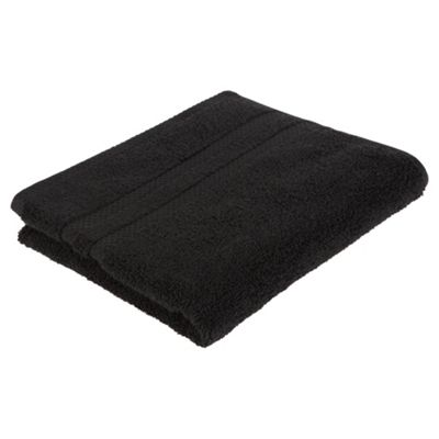 Tesco 100% Combed Cotton Hand Towel Black