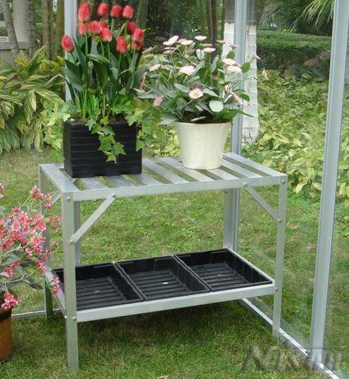 Nison 2 Tier Greenhouse Staging With 3 Seed Trays