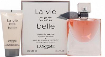 Lancome La Vie Est Belle L'Eau de Parfum (EDP) Gift Set 50ml Spray + 50ml Body Lotion For Women