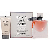 Lancome La Vie Est Belle L'Eau de Parfum (EDP) Gift Set 50ml Spray + 50ml Body Lotion For Women