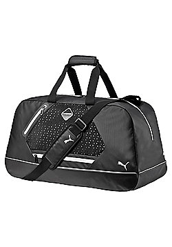 Puma evoPOWER Premium Medium Sports Duffel Bag Black/ White