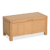 Abbey Light Oak Blanket Box - Storage Box - Storage Chest