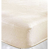 4x Terry Towelling Fitted Sheet Cot Bed / Junior / Toddler Bed 140 x 70cm Cream