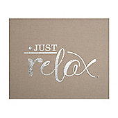 Art for Home Just Relax Embellished Canvas