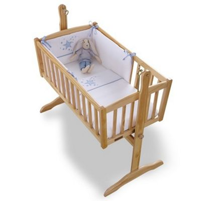Clair de Lune 2pc Crib Bedding Set (Stardust Blue)
