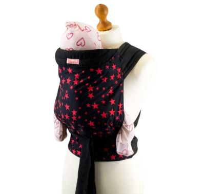 Palm and Pond Mei Tai Baby Carrier – Black with Red Star