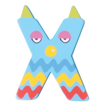 Tatiri Crazy Animals Letter X (Blue Dog)