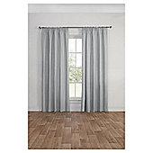 Blackout Pencil Pleat Curtains, Duck Egg (66 x 54'') - Silver