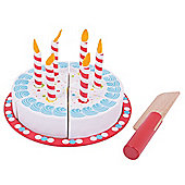 Bigjigs Toys Wooden Birthday Cake with Candles - Play Food and Role Play Toys