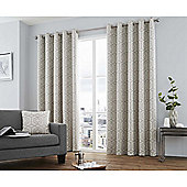 Curtina Camberwell Silver Eyelet Curtains - 66x90 Inches (168x229cm)