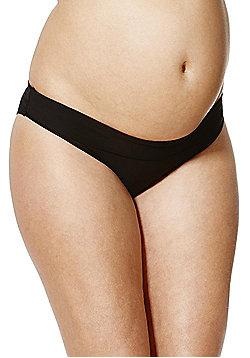 F&F Fold-Over Maternity Bikini Briefs - Black