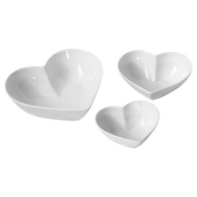 Set of 3 Heart Shaped Serving Bowls  sc 1 st  Tesco & Buy Set of 3 Heart Shaped Serving Bowls from our Platters \u0026 Servers ...
