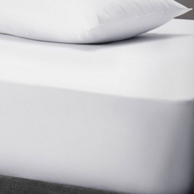 Essential Polycotton Fitted Sheet - White - Single
